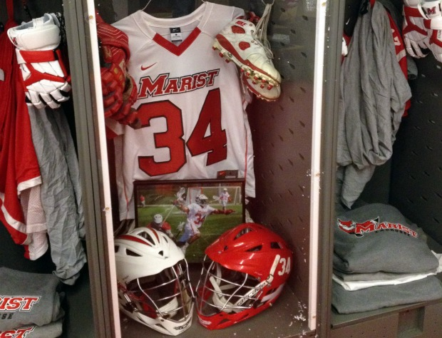Marist Men's Lacrosse Locker Dedication to Edward Coombs, STX Equipment