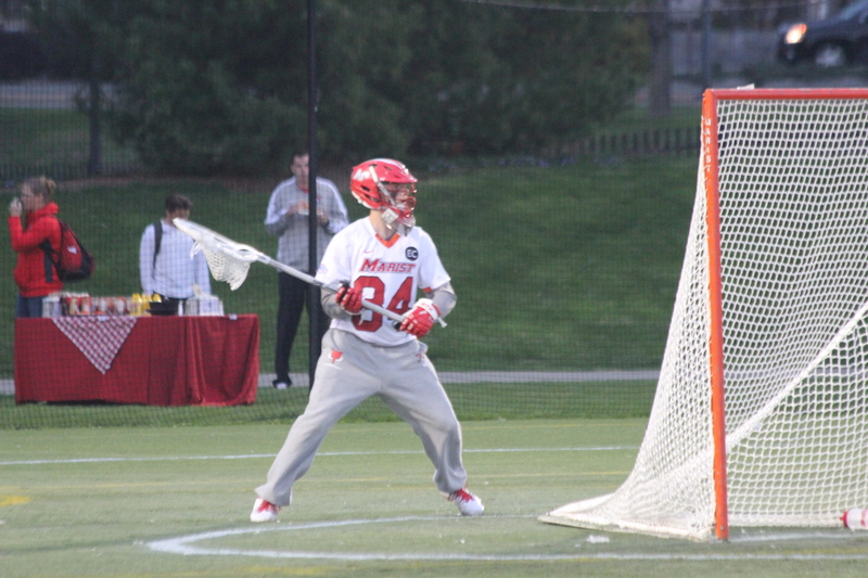 Marist goalkeeper Dave Scarcello honors Edward Coombs with No. 34 jersey